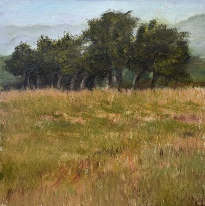 Oil 2018 Sea Ranch Hedgerow